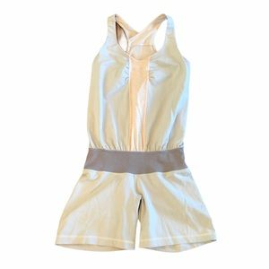 Lululemon one piece romper pink and grey size 4